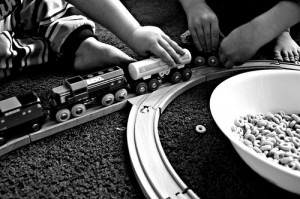 cheerios and trains