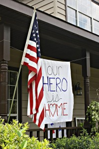 our hero is home